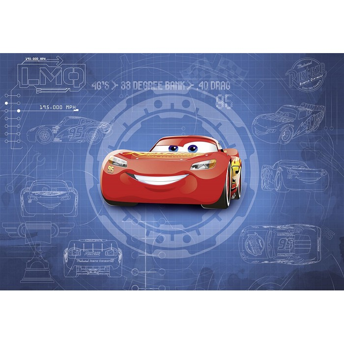 Mural Cars 3 blueprint Disney