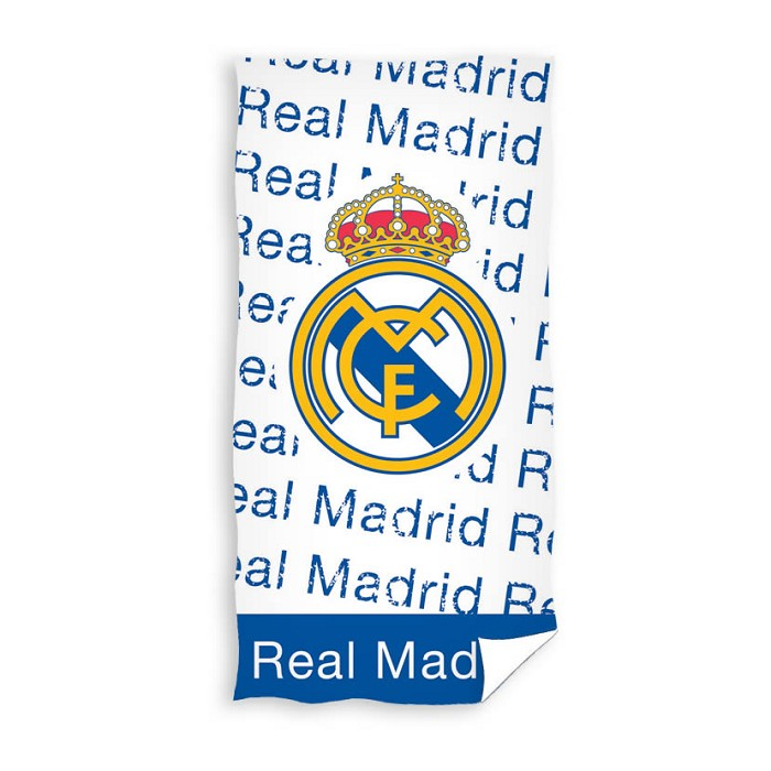 Toalla Playa Escudo Letras Real Madrid