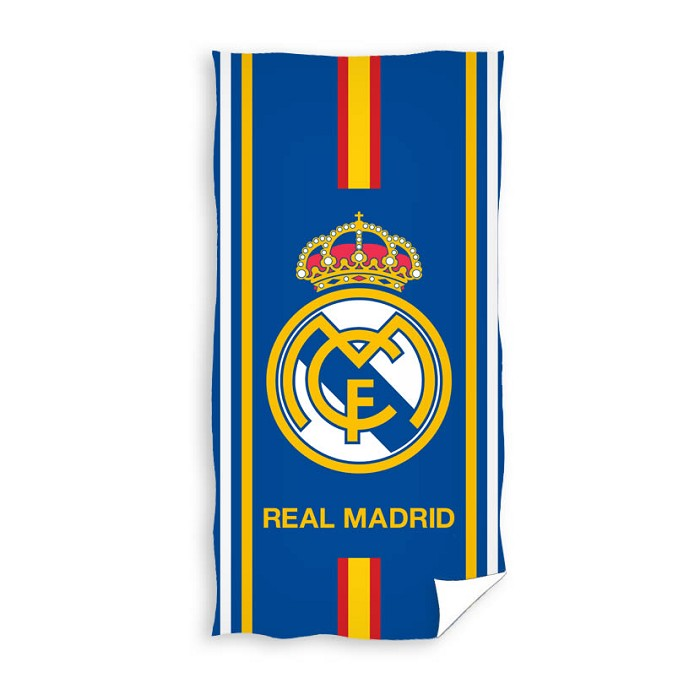 Toalla Playa Escudo Rayas Real Madrid