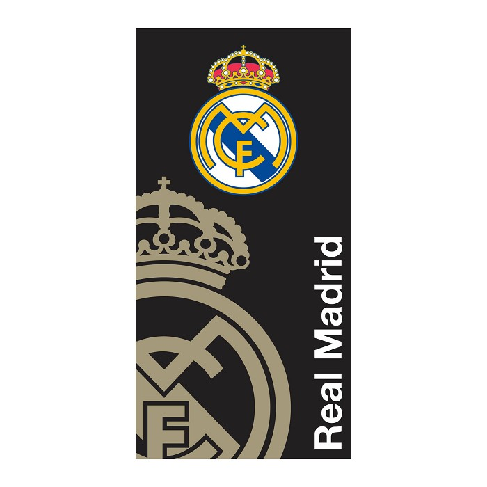Toalla Playa Escudo Negra Real Madrid