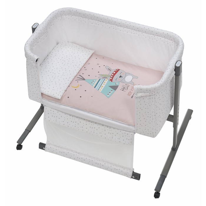 Minicuna Colecho Tipi Oso Rosa Interbaby
