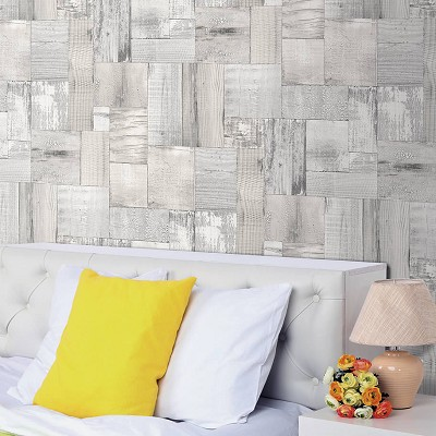 Papel Pintado Squared Wood Texture en Donurmy