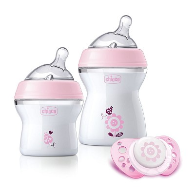 Set Regalo Natural Feeling Rosa Chicco 0M+ en Donurmy