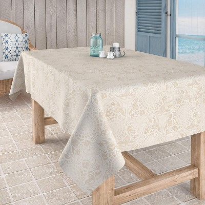 Mantel Antimanchas Jacquard Tapies Natural en Donurmy