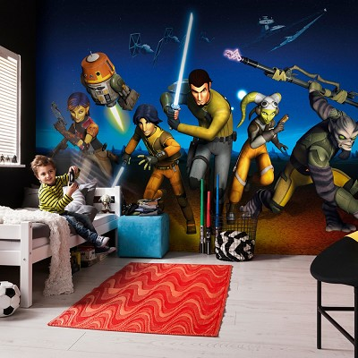 Mural Rebels Run Star Wars en Donurmy
