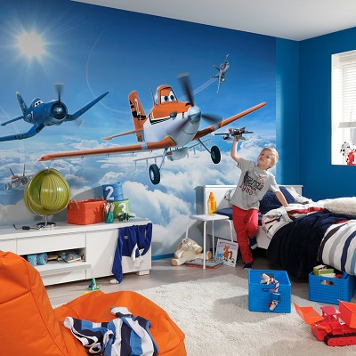 Mural Planes above the clouds Disney en Donurmy