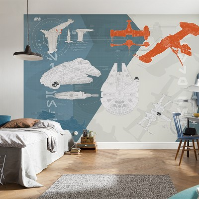 Mural Technical plan Star Wars en Donurmy