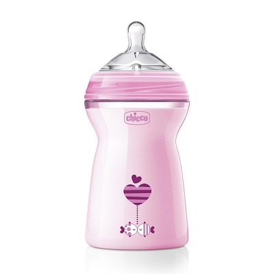Biberón Natural Feeling 330 ml. Rosa Chicco 6M+ en Donurmy