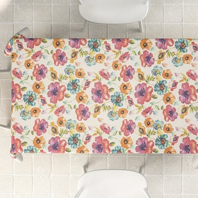 Mantel Antimanchas Digital Lino Flor en Donurmy