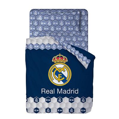 Funda Nordica Real Madrid Cama 90.Sabanas Escudo Azul Real Madrid