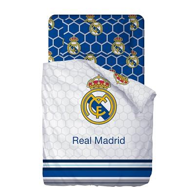 Funda Nordica Real Madrid Cama 90.Sabanas Escudo Blancas Real Madrid