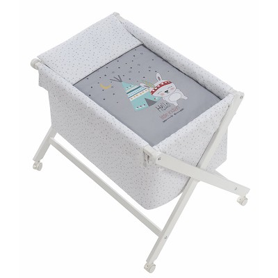 Minicuna Madera Tipi Oso Gris Interbaby en Donurmy