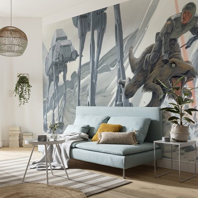 Mural Star Wars Classic RMQ Hoth Battle Ground en Donurmy