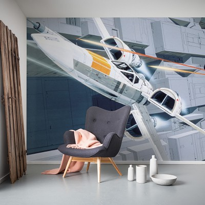 Mural Star Wars Classic RMQ X-Wing vs TIE-Fighter en Donurmy
