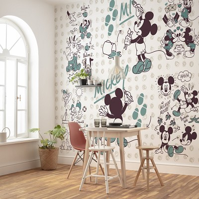 Mural Mickey and Friends Disney en Donurmy