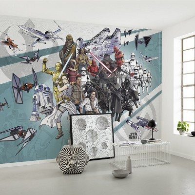 Mural Star Wars Cartoon Collage Wide en Donurmy